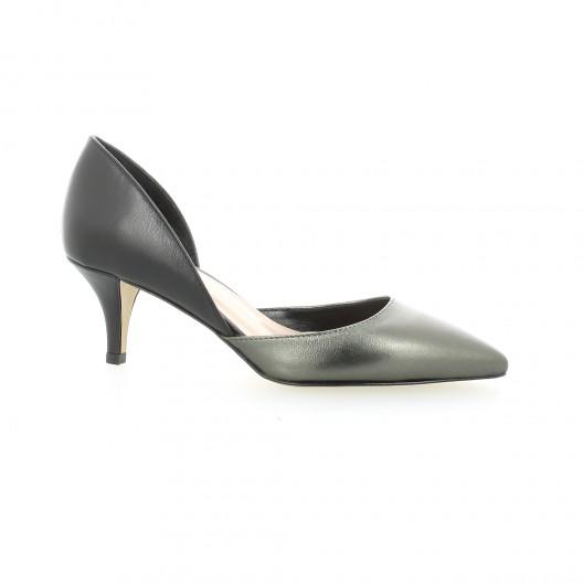 Fremilu Escarpins cuir laminé Bronze - Chaussures Escarpins Femme