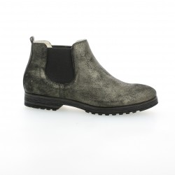 Pao Boots cuir laminé noir