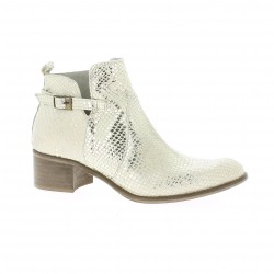 Pao Boots cuir python or