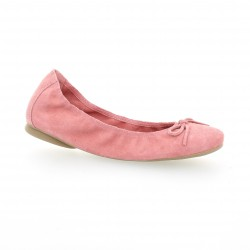 Latina Ballerines cuir velours rose