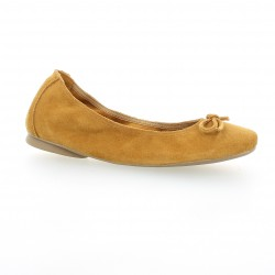 Latina Ballerines cuir velours whisky