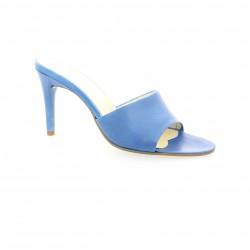 Elizabeth stuart Nu pieds cuir bleu