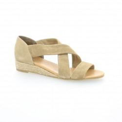 We do Nu pieds cuir velours sable