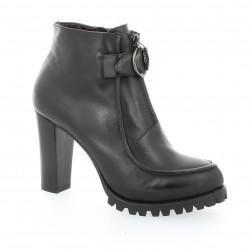 Boots cuir noir Benoite c