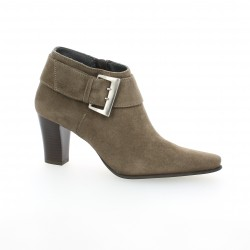 Vidi studio Low boots cuir velours taupe