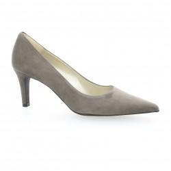 Brenda zaro Escarpins cuir velours gris